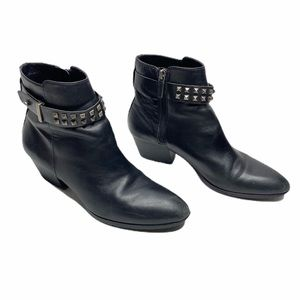 Franco Sarto Ankle Boots Leather upper black 8.5M